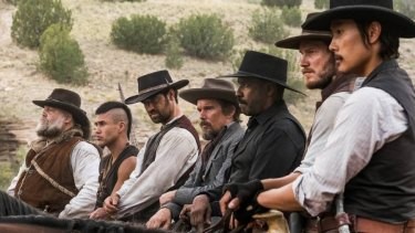 The politically correct posse ride in to clean up a Wild West town in this remake of The Magnificent Seven.