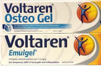 Voltaren Osteo Gel and Emulgel were found to contain the same ingredients.