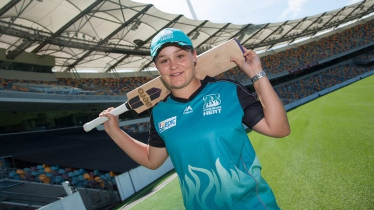 Ash Barty in her former life as a WBBL player for the Brisbane Heat.