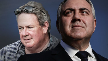 Businessman Andrew Burnes and his friend, Australian ambassador to the US, Joe Hockey.
