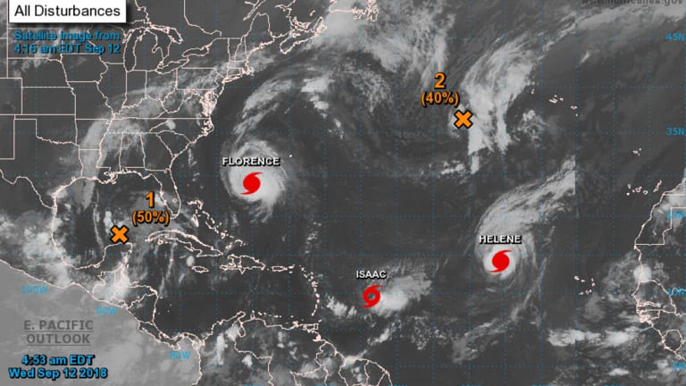 Apart from Florence, two other storms were spinning in the Atlantic.