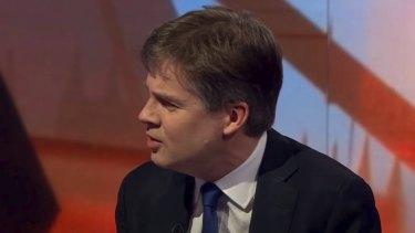 BBC Newsnight Political Editor Nicholas Watt was chased by an anti-vax mob.