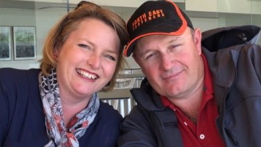 Paul and Mandi McDonald were attacked by their pet deer at their property in Moyhu, near Wangaratta, on Wednesday morning.