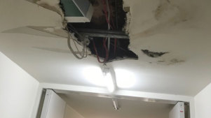 Damage to the loft apartments at 19 Gadigal Avenue, Zetland.