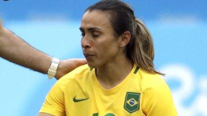 Brazil's Marta hurt in World Cup training