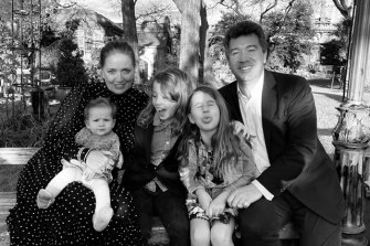 Nick Bryant and his family in the US before making the decision to move to Australia.