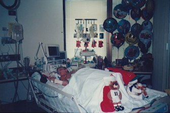 Brenden Hall doesn't remember his time in hospital as a six-year-old with deep vein thrombosis.