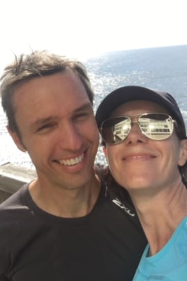 """Zusak and his wife Dominika, who says he """"just receded into himself"""" while struggling with the book."""
