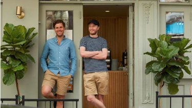 Australians Josh Evans (left) and Nick Duckworth opened Banter cafe in New York's Greenwich Village two years ago.
