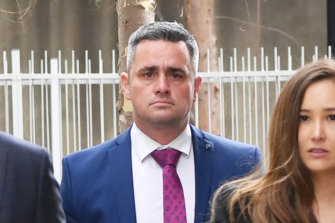 Detective Senior Constable Murray Gentner outside the Coroner's Court last week.