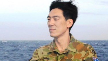 WA Labor MLC Pierre Yang - an army reservist - on deployment during the search for MH370.