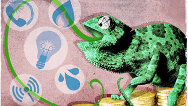 Wizard lizard: Top tips to help maximise savings on your utilities. Illustration: Dionne Gain