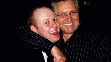 Ray Hadley, right, has reached an undisclosed settlement after being sued by former producer Chris Bowen.