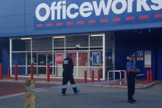 Police were responding to a robbery at Officeworks in East Perth when they Tasered Mr Riley.