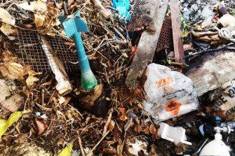 A mortar was also found.