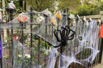 A COVID-safe Halloween in Albert Park.
