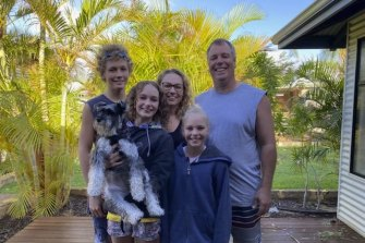 The Beales family believe they will need to demolish their house. They hid in the bathroom together as the cyclone hit Kalbarri.