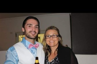 Brendon Payne with his Aunt Leanne.