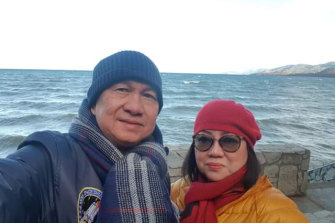 Marijane and Ireneo Dantic holidaying in the United States in December last year.