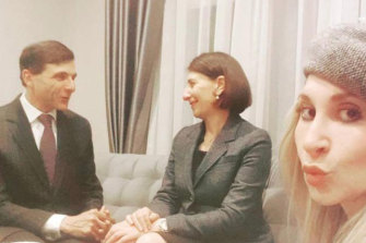 A photo of GladysBerejiklian andArthur Moses SC posted by her sister Mary.