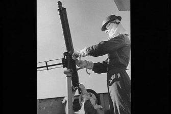 A light anti-aircraft gun.