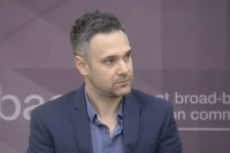 Transclean boss' nephew and company employee, Steve Kyritsis, appears at IBAC on Thursday.