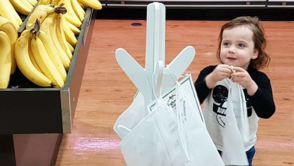 Adorable kids' protest starts sustainability snowball at Perth IGA