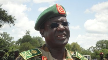 Former South Sudanese army general James Hoth Mai.