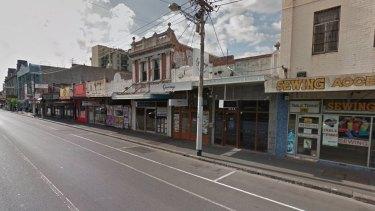 The streetscape on Barkly Street, Footscray.