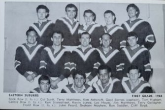 The Eastern Suburbs Roosters team of 1966 that didn't win a game.