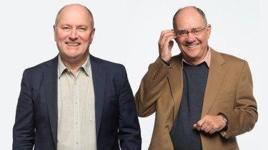 3AW's breakfast team Ross Stevenson and John Burns.