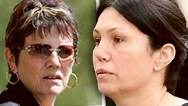 George Williams' partner Kathleen Bourke and his daughter-in-law Roberta Williams.