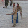 Howzat! The Aussie troops bowling over the locals in war zones