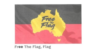One of the flags offered for sale by the operators of the Free the Flag website.