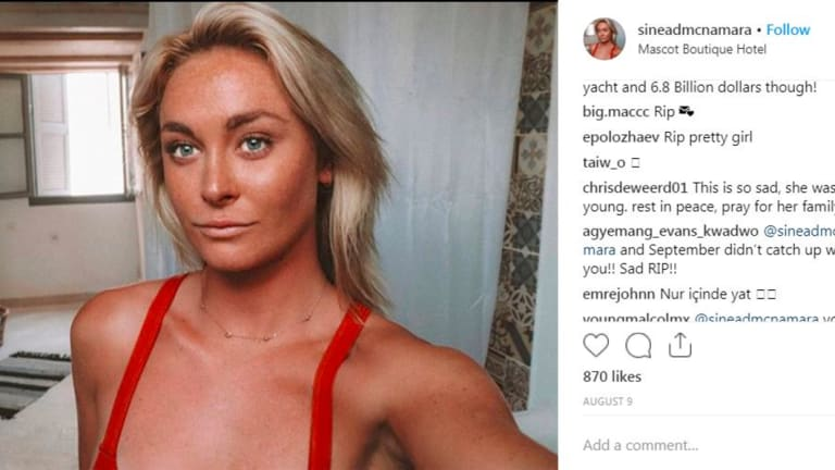 Instagram model Sinead McNamara died in Greece.