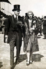 Sheila Chisholm and second husband Sir John 'Buffles' Milbanke at Ascot.