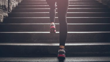 A quick 20-second stair sprint has health and fitness benefits.