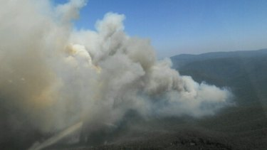 The bushfire at Timbarra in East Gippsland.