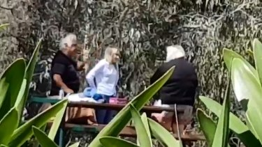 Video stills of Con and Liudmilla Petropoulos allegedly selling kittens in a park at Richmond last month.
