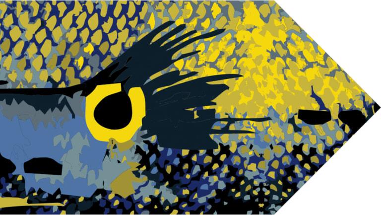 Detail from a hall runner designed by Emma Elizabeth.