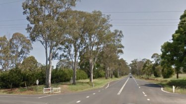 The intersection of Reushle Road and the New England Highway, near where the teen was struck and killed.
