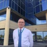Retiring Building Commissioner Ken Bowron.