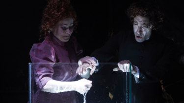 Jessica Aszodi as Lucinda and Brenton Spiteri as Oscar.