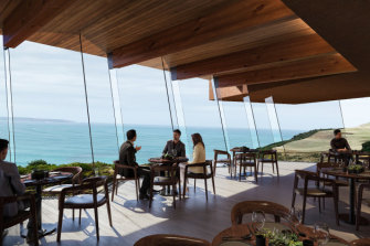 An artist's impression of the proposed restaurant as part of the Cape Bridgewater proposal.