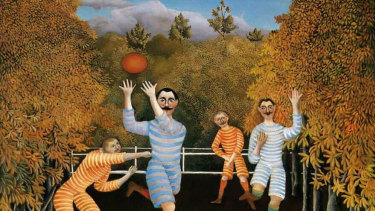 Henri Roussea's 'The Football Players' (1908).
