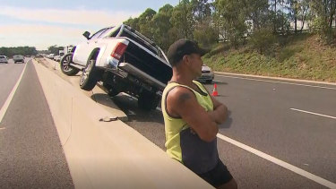 A driver was arrested after allegedly driving his vehicle down the wrong side of the M5.