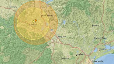 Denman was struck by a 4.4 quake at 4.29pm, while Muswellbrook was hit at 3.27pm by a 3.8 magnitude quake.