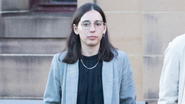 Rose Thomas leaves court on Friday after being sentenced.