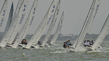 The fleet at the world championships in Texas.