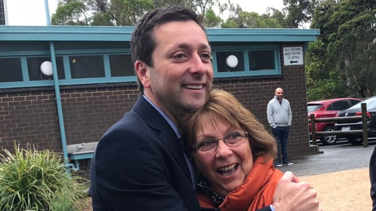 Matthew Guy with his mother, Vera.